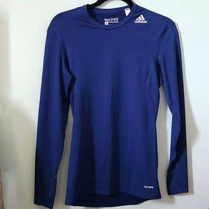 Adidas TECHfit Navy Pullover Med